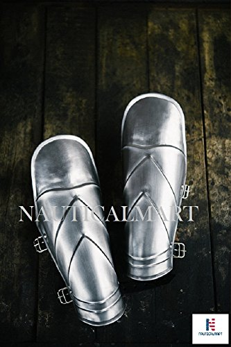 NAUTICALMART Halloween Larp Armor - Steel Firebird Bracers -Pair by NAUTICALMART