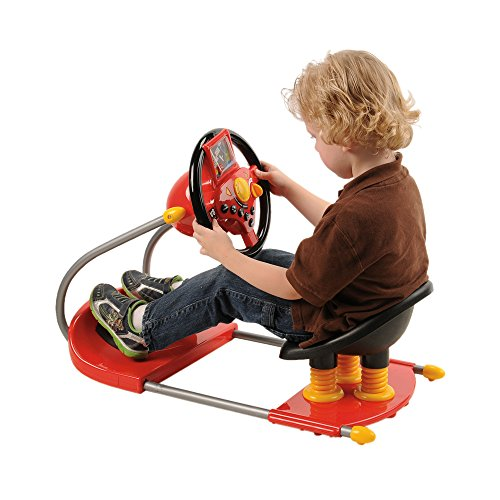 CP Toys Battery-operated Sit On Simulated Driver with Moving Screen and Lights & (Driving Toy)