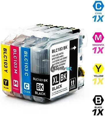 INKUTEN - Pack de 4 cartuchos de tinta Brother MFC-J6520DW: Amazon ...