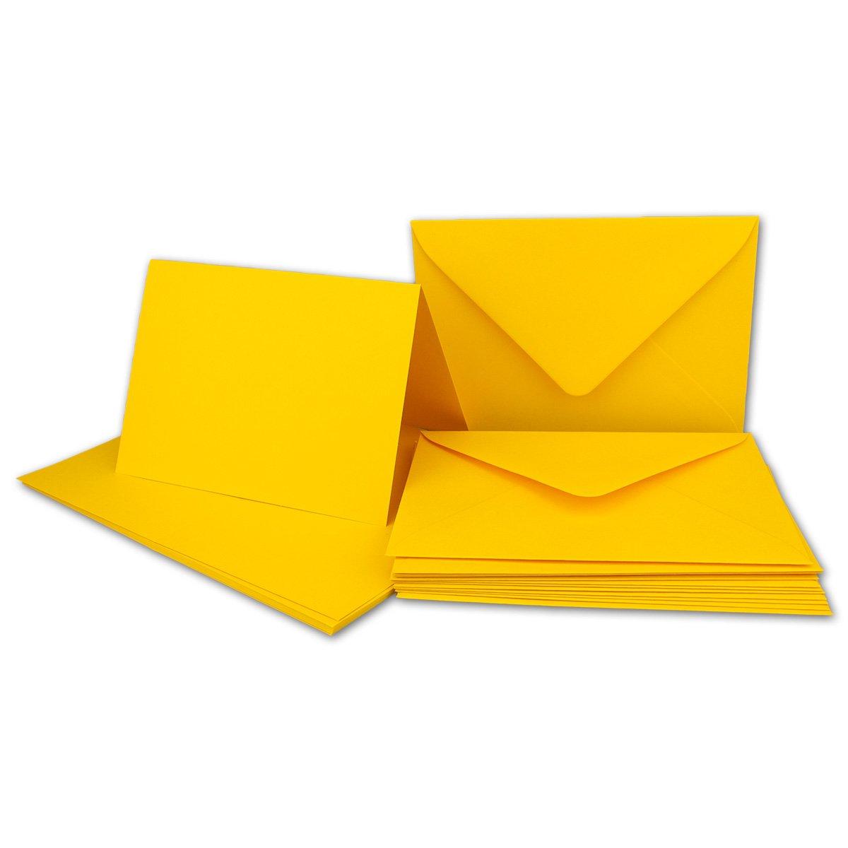 Faltkarten Set mit Brief-Umschlägen DIN A6   C6 in Rosanrot   100 Sets   14,8 x 10,5 cm   Premium Qualität   Serie FarbenFroh® B07B146PP1 | New Style