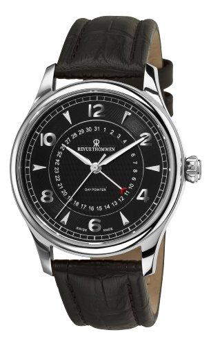 Revue Thommen 10012-2537 Day Pointer Reloj automático para hombre con esfera negra