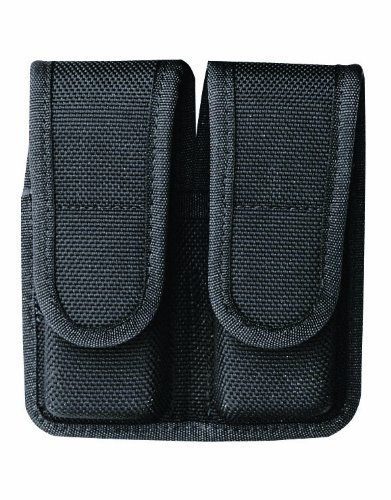 Bianchi Accumold 7302 Black Double Magazine Pouch (Size 2 Staggered)