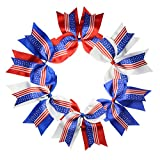 7'' Large Unicorn Cheer Bows Girls Hair Bows With Elastic Band For Teen Girls (Multicolor-H06)