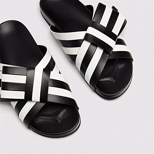 rugiada sandali 38 di in fondo 38 vera primavera estate ed pantofole Nuova butterfly libero pelle piatto punta tempo YMFIE ZqaU6wH
