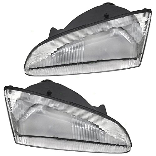 - Driver and Passenger Headlights Headlamps Replacement for Dodge 4778257 4778256 AutoAndArt