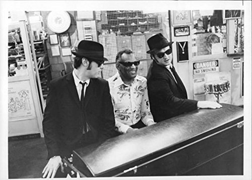 The Blues Brothers, Dan Aykroyd and John Belushi with a Ray Charles. - Poster Art Print