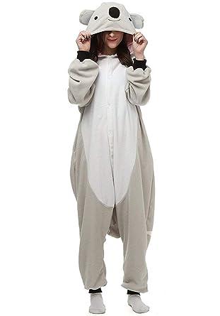Image of: Jumpsuit Grey Koala Unisex Adult Animal Cosplay Costume Pajamas Onesies small Gray Koala Aliexpresscom Amazoncom Grey Koala Unisex Adult Animal Cosplay Costume Pajamas