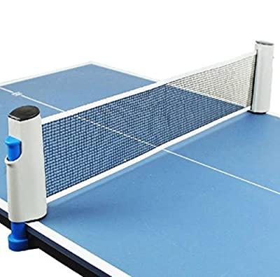 Portable Net Ping Pong Tennis Table Games Retractable Kit Pool Replacement Set Grey