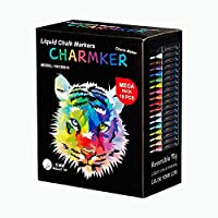CHARMKER Liquid Chalk Markers Erasable, Chisel Tip Pens for Writing, Drawing, Art, Crafts   Chalkboard, Bistro Board, Classroom   Kid and Adult Friendly   Non-Toxic