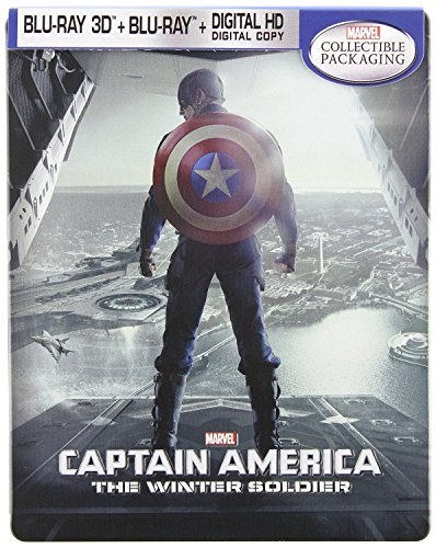 Captain America: The Winter Soldier Collectible Steelbook [Blu-ray 3D, Blu-ray, Digital HD]