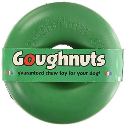 Goughnuts - Rubber Dog Chew Toy Med .75, Green, Ring