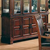 China Cabinet Buffet Old West Style Dark Brown Finish