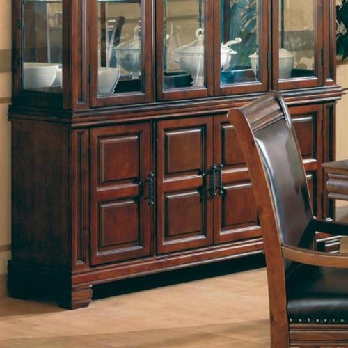 Westminster Birch Finish - China Cabinet Buffet Old West Style Dark Brown Finish