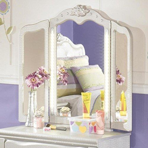 Ashley Furniture Signature Design - Zarollina Vanity Mirror - Modern Style - Silver