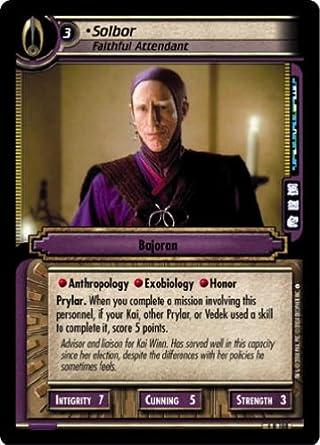 Attendant Star Trek CCG Necessary Evil 4R108 Solbor