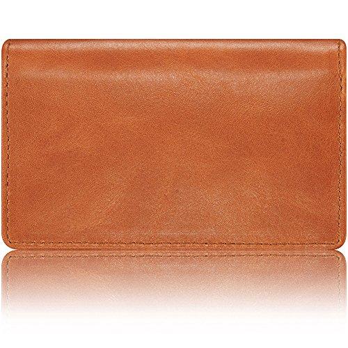 KAVAJ Leather Business Card Holder Case Wallet 'Singapore' cognac - Genuine Leather