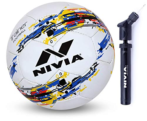Nivia Trainer Rubber Football, Size 3 (White/Blue) Price & Reviews