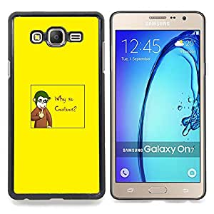 """Qstar Arte & diseño plástico duro Fundas Cover Cubre Hard Case Cover para Samsung Galaxy On7 O7 (¿Por qué tan curioso - Joker Mono divertido"""")"""