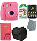Fujifilm Instax Mini 9 Instant Camera – 6 Pack Camera Bundle Pink (Small Image)