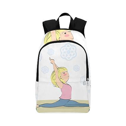 Bolsa para Hombres Colegio Yoga Dibujos Animados Chica Sana ...