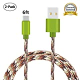 USB Type C Cable, MCUK 2 Pack 6Ft Charging Cord Nylon Braided Data Sync Cable for Samsung Galaxy S8/S8+, Nexus 6P/5X,LG G6/G5,Oneplus 3, Macbook 12 inch, Pixel, Nintendo Switch and More (Camouflage)