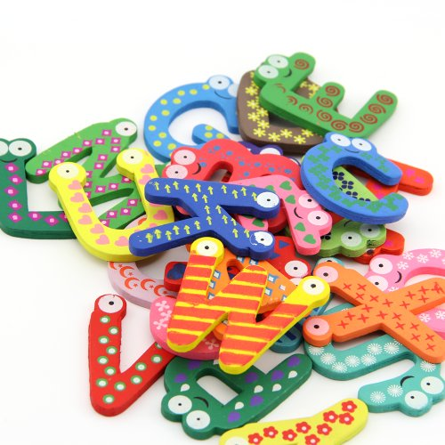 2 Sets Kids Toys Colorful Wooden Refrigerator Magnet Alphabet A-z Letters 26pcs (Magnet Toys For Fridge compare prices)