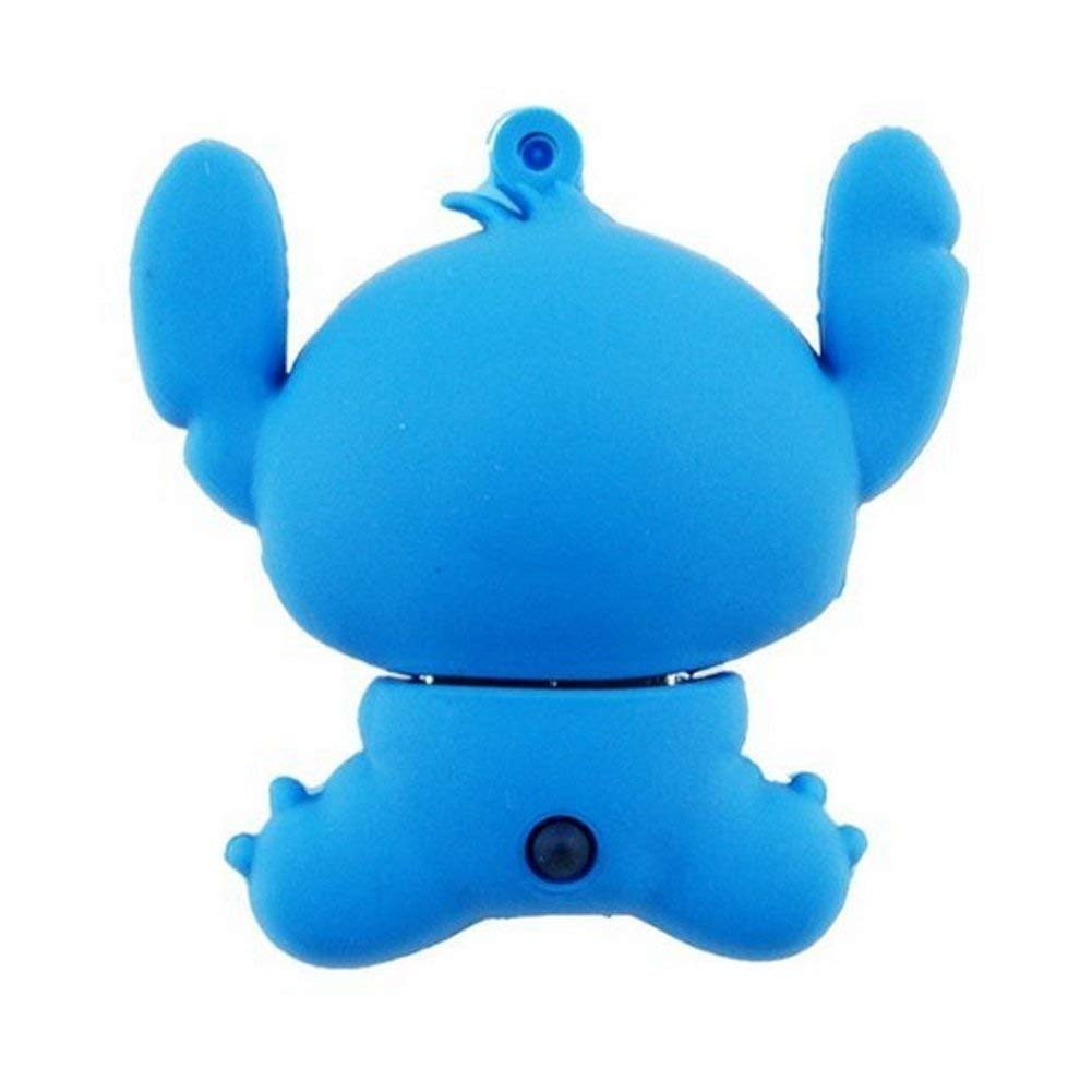 PORTWORLD 32GB USB 3.0 Flash Drive Memory Stick with Keychain Cute Cartoon Stitch Blue
