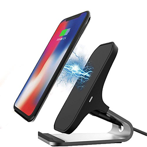 Price comparison product image Wireless Charger for iPhone X 8/8 Plus 10W Fast Wireless Charging Stand for Samsung Galaxy S9/S8/Note 8(No Adapter)
