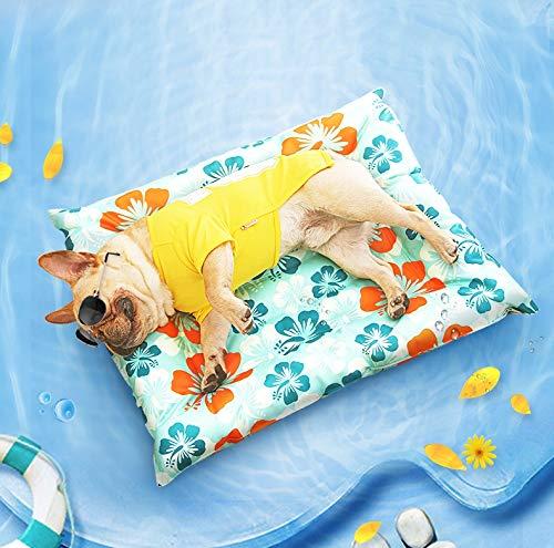 L WTTTTW Comfort Cooling Gel Pet Pad Mat for Summer Pets Anti Mosquito Rectangle Four Sizes