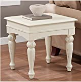 Wasatch End Table. Add a Stylish Touch to Your Home Decor with This Beautiful Side Table. With Turned Legs and a Vanilla Distressed Finish, This Lovely Table Adds a Classic and Charming Ambience. Foot Glides on the Table Protect Your Delicate Floors. Review