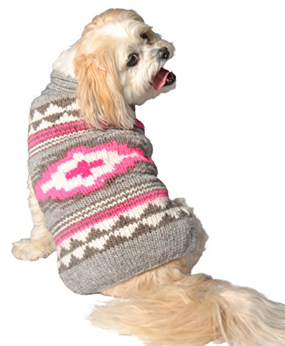 Chilly Dog Pink Southwest Sweater, Small by Chilly Dog