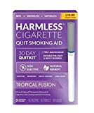 Safe Nicotine-Free Solution to Quit Smoking, Reduce Cravings and Satisfy Hand-to-Mouth, Withdrawal Symptoms and Help Stop Smoking (Tropical Fusion, 3 Pack)