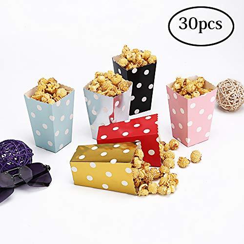 CLAIREBOX - Cajas de palomitas de maíz multicolor para fiestas de películas, fiestas de teatro, festivales, regalos de boda...