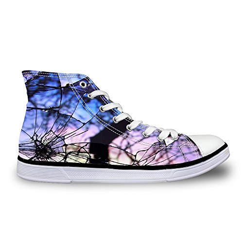 FOR U DESIGNS Classic Women Athletic Shoes High Top Canvas Fashion Sneaker US 9 by FOR U DESIGNS