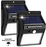 Solar Driveway Light Outdoor, Waterproof Motion Sensor Lights Wireless Solar Lights Outdoor for Garden Fence Yard Patio Pathway Driveway (2 Pack)
