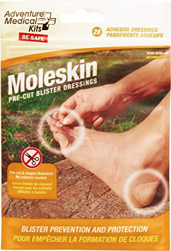 Adventure Medical Kits Pre-Cut and Shaped Moleskin Blister Dressing, 84 -