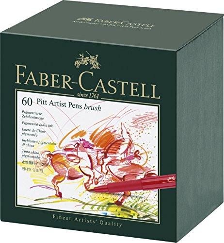 Faber Castell 60 Piece Pitt Artist Brush Pen Set Gift Box by Faber-Castel