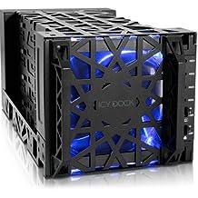 ICY DOCK Black Vortex MB174U3S-4SB 4 Bay USB 3.0 & eSATA External HDD Enclosure with 120mm Cooling Fan