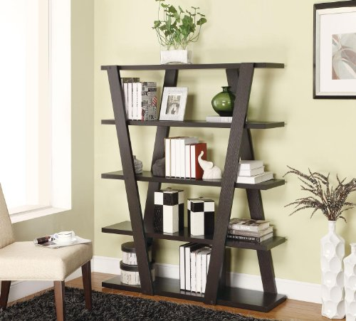 Coaster Bookshelf, Cappuccino - Open Bookshelf