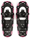 Lucky Bums Youth and Adult Snowshoes, Pink, 14-inch
