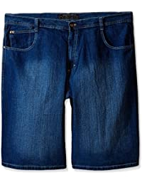 Men's Big-Tall 4180 Sand Washed Denim Short in Relaxed Fit