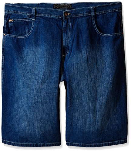 Southpole Men's Big-Tall 4180 Sand Washed Denim Short in Relaxed Fit, Medium Blue, - Jeans Denim Blasted