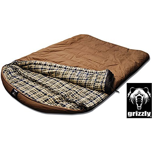 Grizzly 2-person +25-degree Canvas Sleeping Bag by Grizzly B00RQCFU96