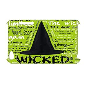 Wicked 3D Print Classic Movie Theme Case Cover for iPod Touch 4 - Personalized Hard Cell Phone Back Protective Case Shell-Perfect as gift