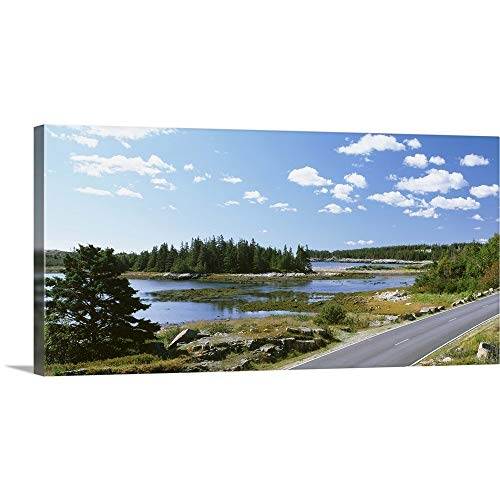 (GREATBIGCANVAS Gallery-Wrapped Canvas Entitled Road Passing Through a Landscape, Park Loop Road, Acadia National Park, Maine by 60
