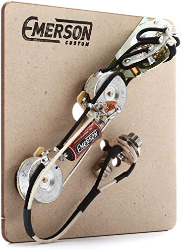 Telecaster 5 Way Switch - Emerson Custom 4-way Prewired Kit for Telecaster Guitars - 250k Pots