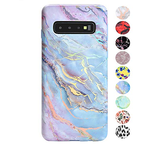 - Velvet Caviar Case Compatible with Samsung Galaxy S10 - Cute Premium Protective Phone Cases for Girls Women [Drop Test Certified Cover] - Holographic Pink Blue Marble
