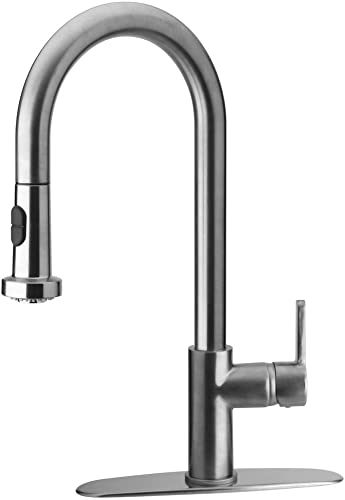 Glacier Bay Series 410 Pulldown Kitchen Faucet in Brushed Nickel