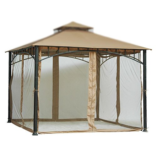 Home and Garden HGC 7 ft. Velcro Straps Mosquito Net for 10W x 10D ft. Gazebo For Sale