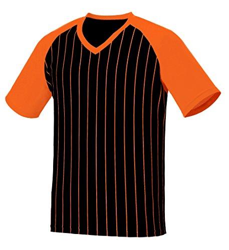 myglory77mall Vneck Pinstripe Baseball Raglan Coolmax Dryfit tshirts Jersey Top US L(XL tag) BlackOrange